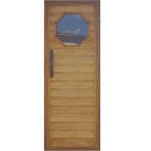 Solid wood door with glass insert