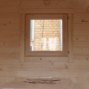 Sauna room window