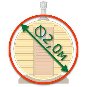 Diameter 2.0m