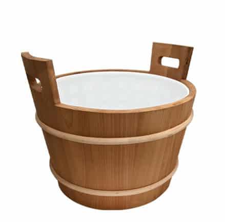 Wooden pail, 18 L Plastic insert, Cedar