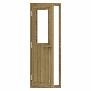 Cedar Door with Glass Window, Left Hand Opening, 690×1890 mm