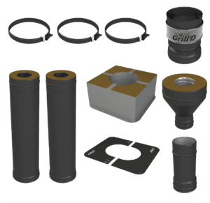 Standard Pipes Kit<br>Black or Stainless Steel