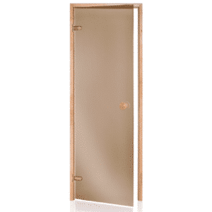 Alder Frame Door<br>Bronze Glass<br>690x2090mm<br>(27 1/8″ x 82 1/4″)<br>Left or Right Hand Opening
