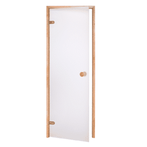 Alder Frame Door<br> Frosted Glass<br>690x1890mm<br>(27 1/8″ x 74 3/8″)<br>Left or Right Hand Opening