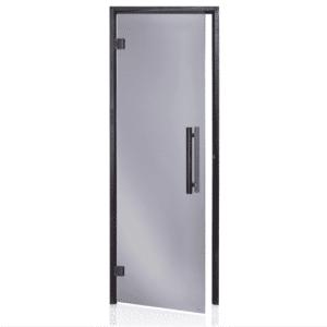 Alder Black Frame Door<br> Black Glass<br>690x1890mm<br>(27 1/8″ x 74 3/8″)<br>Left or Right Hand Opening