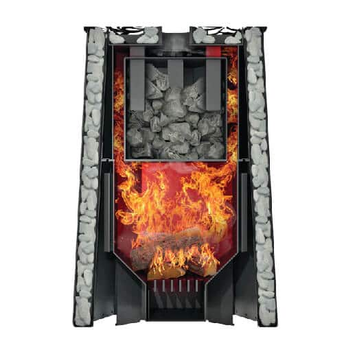 Grill'D Violet Steel Romb Long with Jade StonesWood-Burning Sauna Heater / Stove