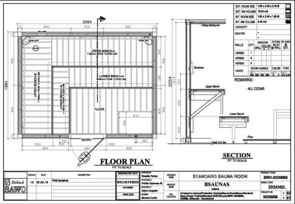 2026Mi Cedar Sauna Room