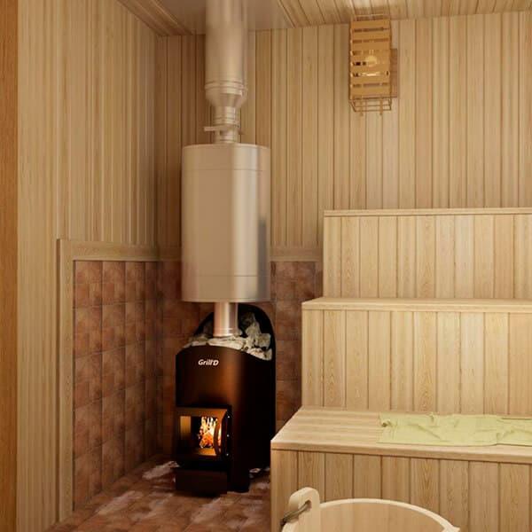 Grill'D Aurora 160 ShortWood-Burning Sauna Heater / Stove