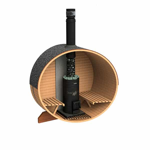 Grill'D Bochka 160 LongWood-Burning Sauna Heater / Stove