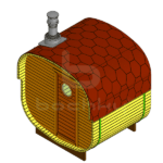 Square Mini Outdoor Barrel Sauna